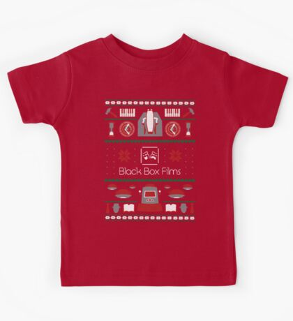 Black Box Films Christmas Sweater (Red & Green) Kids Tee