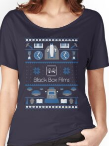 Black Box Films Christmas Sweater (Blue) Women's Relaxed Fit T-Shirt