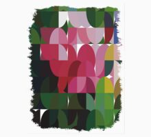 Pink Roses in Anzures 6 Abstract Circles 1 Kids Clothes