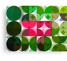 Pink Roses in Anzures 6 Abstract Circles 3 Canvas Print