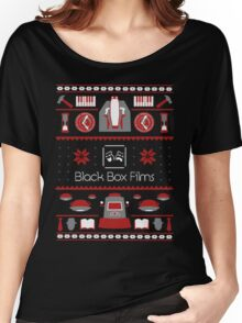 Black Box Films Christmas Sweater (Red) Women's Relaxed Fit T-Shirt