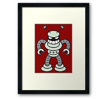 Little Cute Angry Robot!!! Framed Print