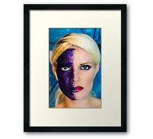 Purple Sparkles Framed Print