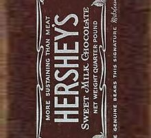 Vintage Hersheys Chocolate Bar by ChloeJade