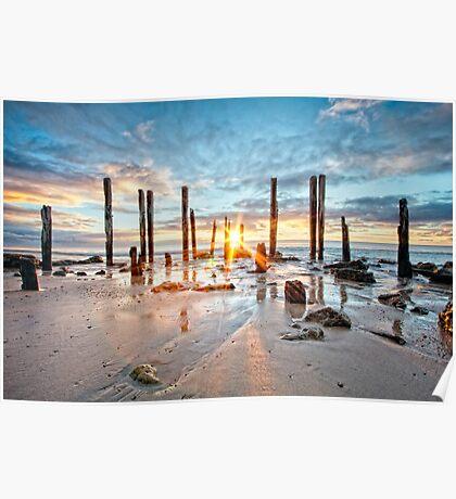 Port Willunga Sunset #1 Poster