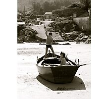 children on ship Photographic Print