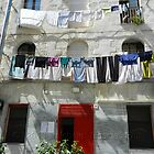 Wash Day in Sassari, Sardinia, Italy by Michele Filoscia
