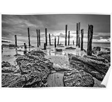 Port Willunga - Monochrome Poster