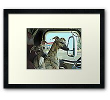 """""""Gypsy, You Keep An Eye On The Right Side While I Back This Puppy Up"""" ! Framed Print"""