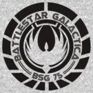 Battlestar Galactica Insignia Black by heythisisBETH