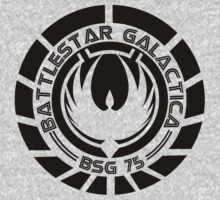 Battlestar Galactica Insignia Black by heythisisBETH