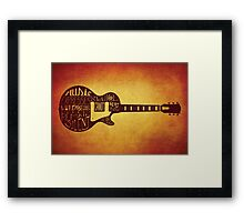 Victor Hugo Guitar Quote Framed Print