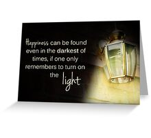 Dumbledore Harry Potter Happiness Quote Greeting Card