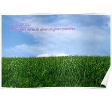 He Maketh Me Lie Down in Green Pastures Poster