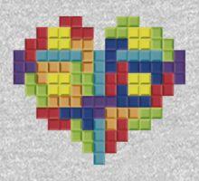 Tetris Block Heart Kids Clothes