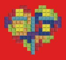 Tetris Block Heart Kids Tee