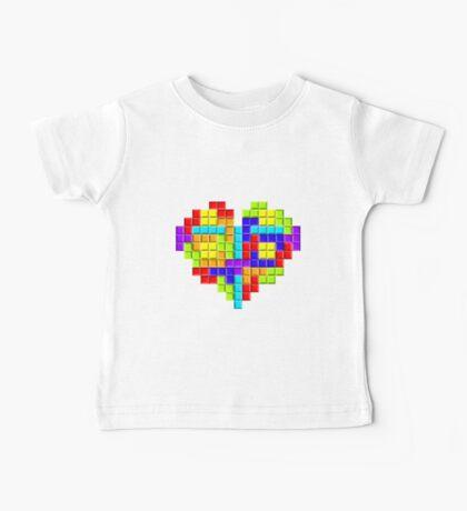 Tetris Block Heart Baby Tee