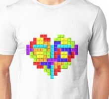 Tetris Block Heart Unisex T-Shirt