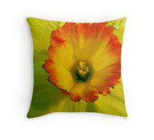 Daffodil Sunset Throw Pillow