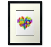 Tetris Block Heart Framed Print