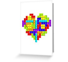 Tetris Block Heart Greeting Card