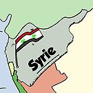 Drapeau syrien Biohazard caricature by Binary-Options