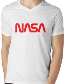 NASA Logo Mens V-Neck T-Shirt