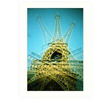 Eiffel Tower is Falling Down - Lomo Art Print