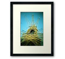 Eiffel Tower is Falling Down - Lomo Framed Print