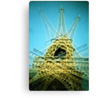 Eiffel Tower is Falling Down - Lomo Canvas Print