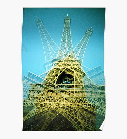 Eiffel Tower is Falling Down - Lomo Poster