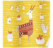 Antelope in the desert Poster