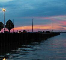 Jackson Street Pier - Sunset by SRowe Art