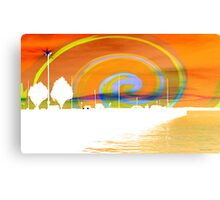 Jackson Street Pier - Orange Swirl Canvas Print