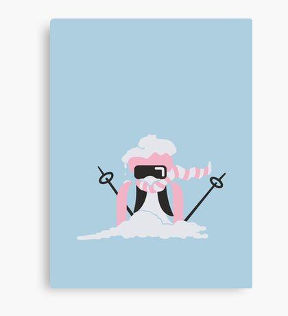 Ski Penguin VRS2 Canvas Print