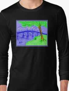 Bridge At Twilight 2 Long Sleeve T-Shirt