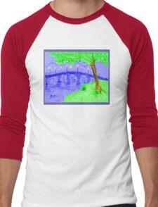 Bridge At Twilight 2 Men's Baseball ¾ T-Shirt