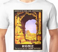 Vintage Ruins of Rome Italy Travel Unisex T-Shirt