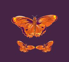 Orange and purple butterfly Womens Fitted T-Shirt