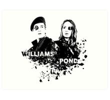 Amy Pond & Rory Williams Art Print