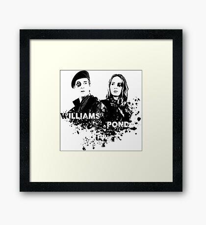 Amy Pond & Rory Williams Framed Print