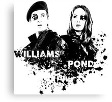 Amy Pond & Rory Williams Canvas Print