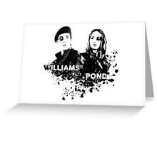 Amy Pond & Rory Williams Greeting Card