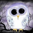 Swirly Owl at Night by Megan Stone