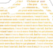 Belle Text Sticker