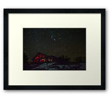 Cabin and Orion Framed Print