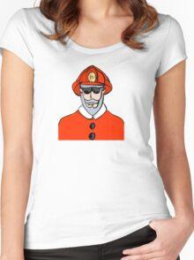 Fireman Santa Women's Fitted Scoop T-Shirt