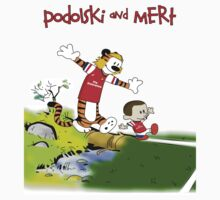 Podolski and Mertesacker as Calvin and Hobbes. by LukeSimms