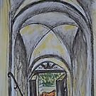 Watercolor Sketch - A Farmhouse Entrance. Sicily, 2013 by Igor Pozdnyakov