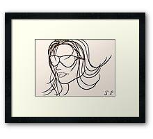 Mystery Woman Framed Print